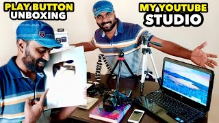 SILVER PLAY BUTTON UNBOXING AND MY YOUTUBE STUDIO TOUR