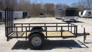 Parker High Side Single Axle Steel Powder Coated Utility Trailer