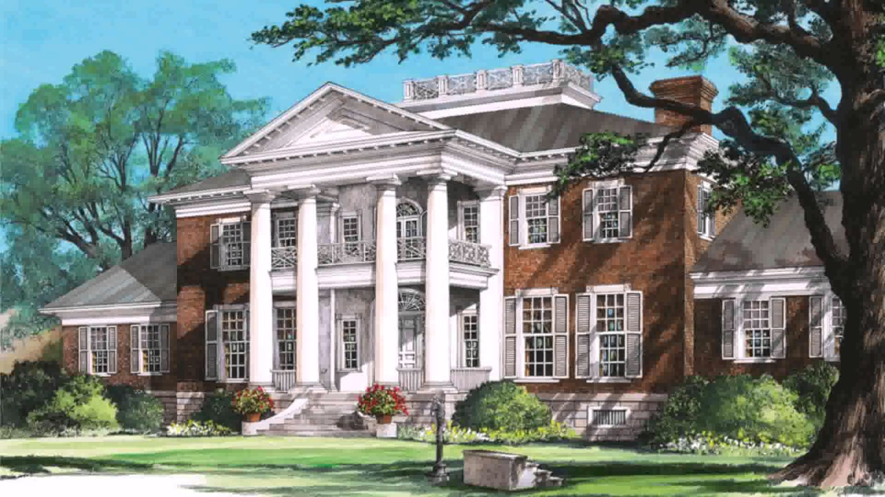 Colonial Style House With Columns