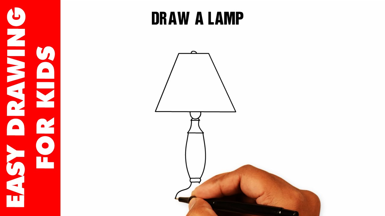 How To Draw A Lamp EASY And SIMPLE For Kids In 30s