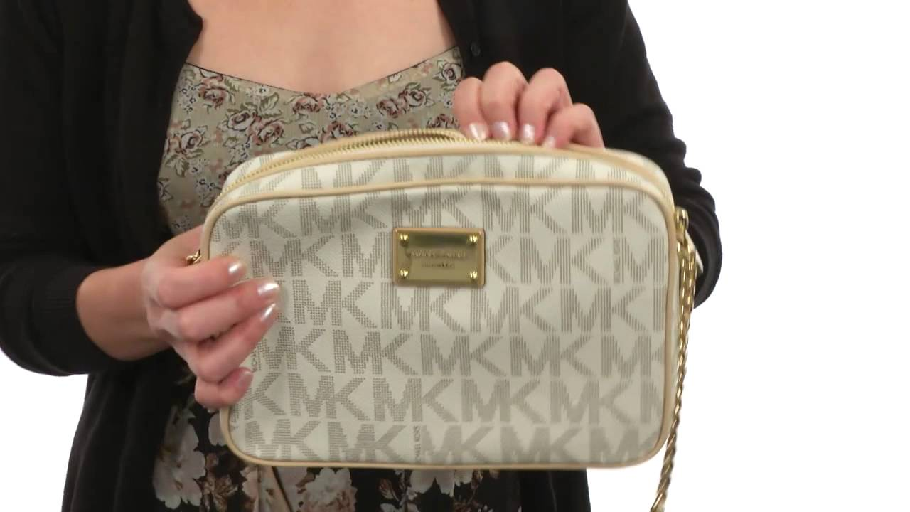 1cc5765e6130 MICHAEL Michael Kors Jet Set 18K LG Ew Crossbody SKU:#8352946 - YouTube