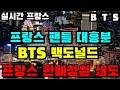 BTS 방탄소년단 실시간속보  프랑스팬들 대흥분