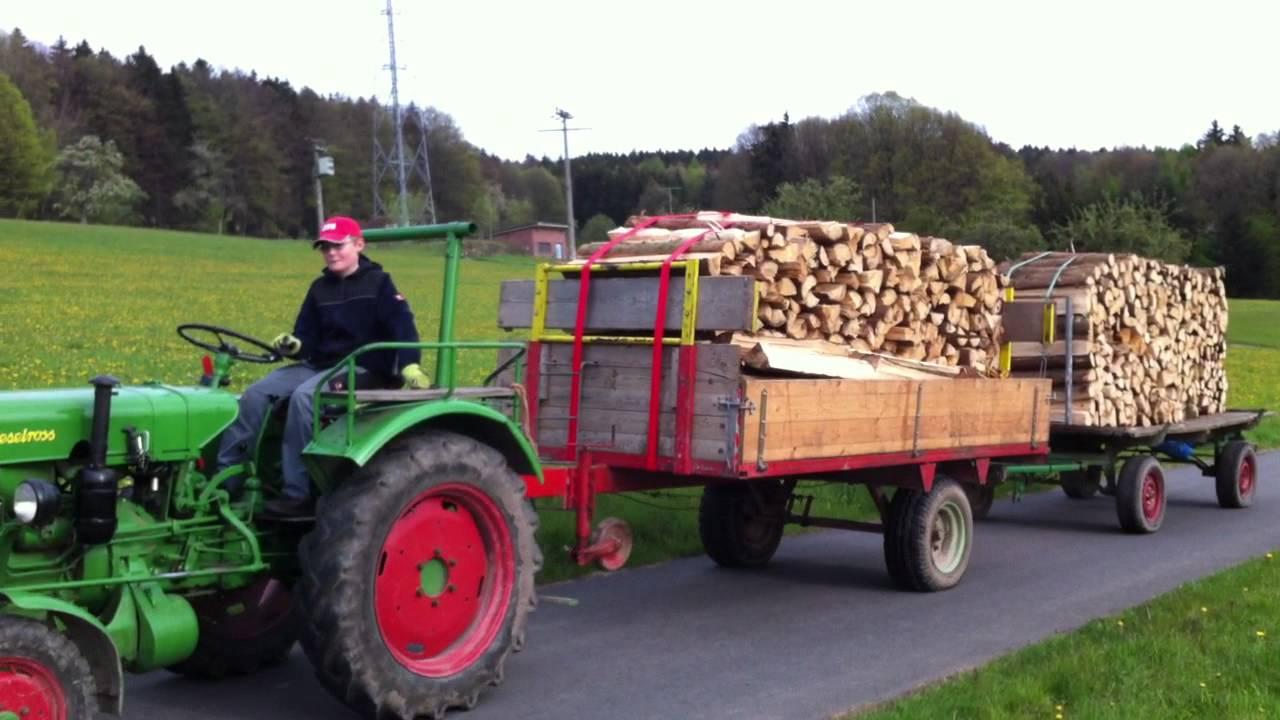 Holz Fahren