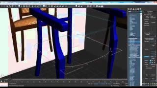 Моделирование кресла в 3d max
