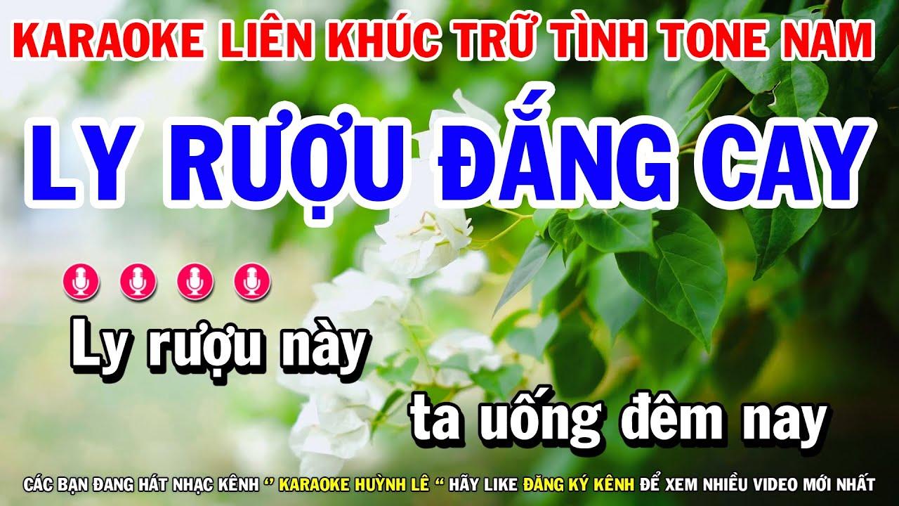 Download Karaoke Liên Khúc Nhạc Trữ Tình Tone Nam Dễ Hát | Ly Rượu Đắng Cay - Qua Cơn Mê