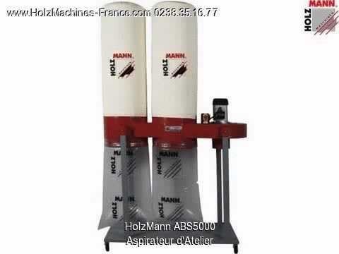 holzmann abs 5000 aspirateur d 39 atelier machine bois youtube. Black Bedroom Furniture Sets. Home Design Ideas