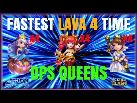 FASTEST LAVA ISLE 4 TIME - 4 DOVE KEEPERS - INSANE DPS - CASTLE CLASH