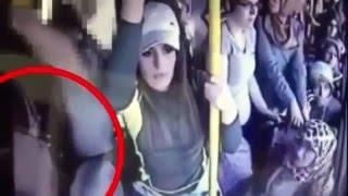 Acusado de abuso apanha de mulheres no ônibus lotado