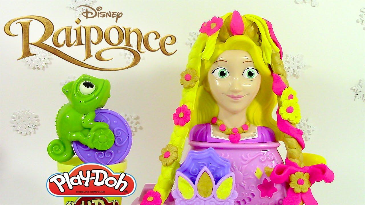Pâte à modeler Princesse Tête à coiffer de Raiponce ♥ Play Doh Rapunzel Hair Designs - YouTube