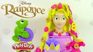 Pâte à modeler Princesse Tête à coiffer de Raiponce ♥ Play Doh Rapunzel Hair Designs