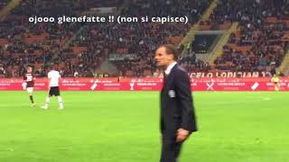 (incredibile)Allegri urla disumane a SanSiro
