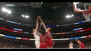 Markkanen Stuffs Porzingis Shot Then Scores   Bulls vs Knicks