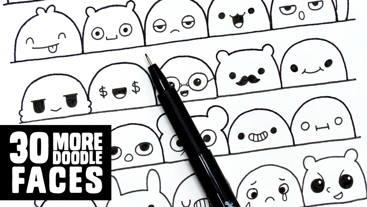 82dd5f793d6 30 More Cute Faces   Expressions to Doodle - YouTube