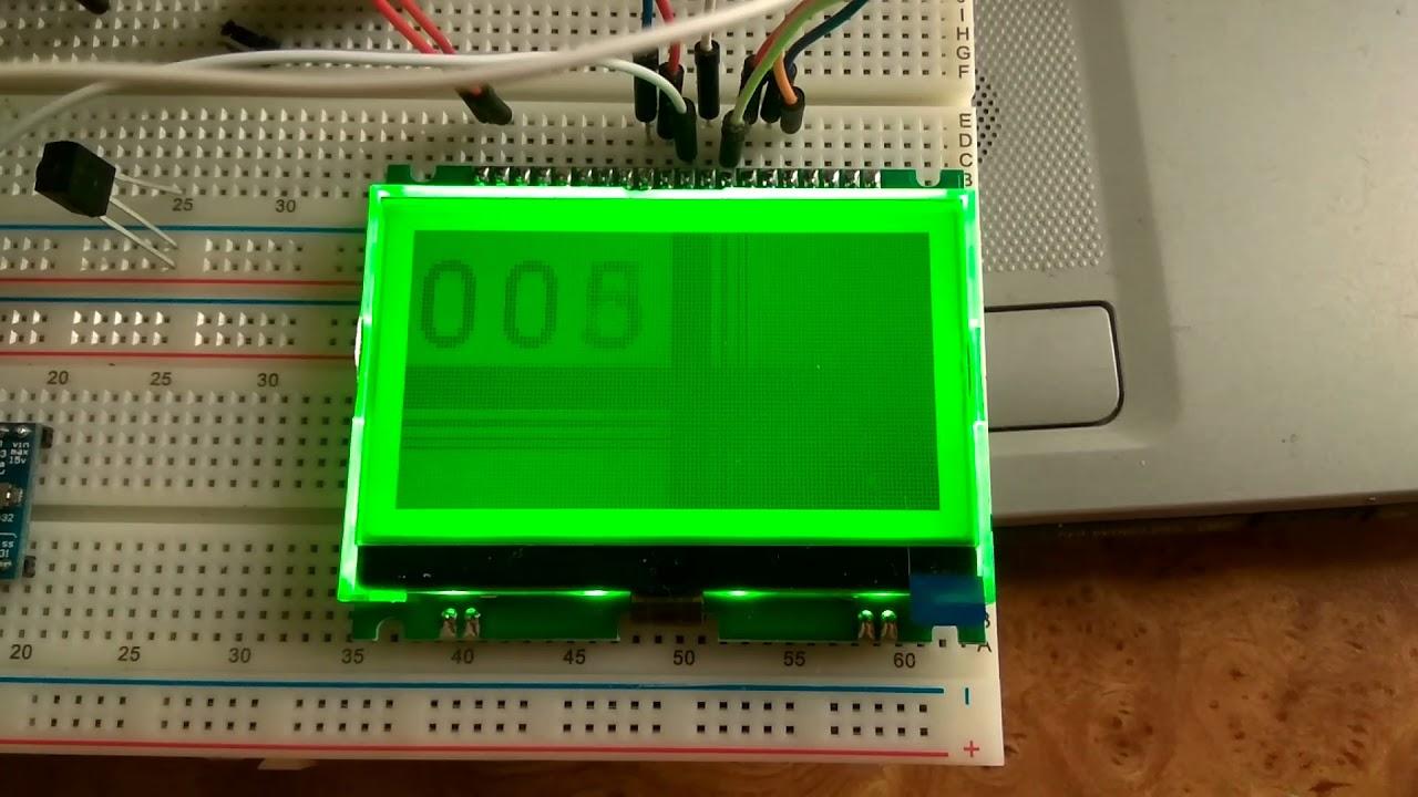 ST7567 LCD + stm32f103cb STM32duino+ u8g2 = Contrast test