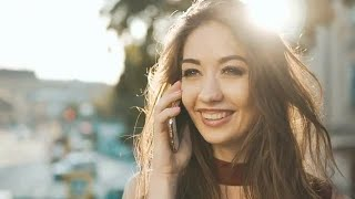 Beautiful Woman Talking On Smartphone  Stock Video