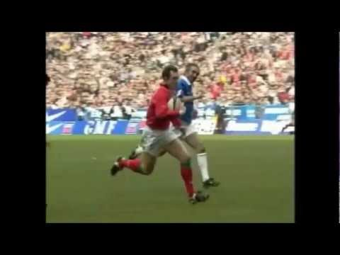 Rob Howley great individual try vs France 2001