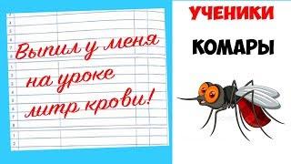 Лютые приколы .КОМАРЫ - УЧЕНИКИ . Угарные мемы , смешные картинки / Видео