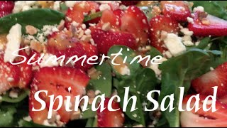 Summertime Strawberry Spinach Salad