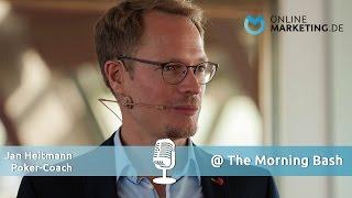 Warum Unternehmer gute Pokerspieler sind - Jan Heitmann, Poker-Coach, @The Morning Bash