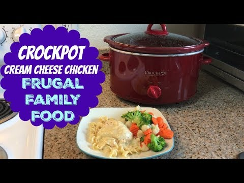 Crockpot Cream Cheese Chicken | Frugal Family Food