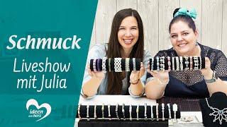 Ideen mit Herz - Facebook live vom 16.09.2019 - Basteln mit Julia | Schmuck gestalten