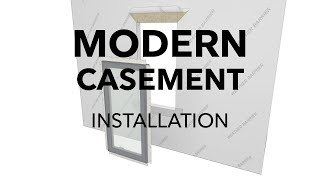 Marvin Modern Casement Window Frame Installation