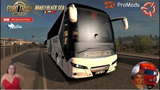 Euro Truck Simulator 2 (1.37)   Neoplan New Tourliner Euro 6 2020 1.37.X by Polat Y?ld?ran First Look Turkey to Greece Road to the Black Sea DLC by SCS Software Promods map v2.46 FMOD ON and Open Windows Naturalux Graphics and Weather Spring Graphics/Weat