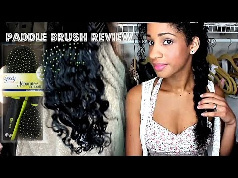 paddle brush vs denman brush on wet thick curly hair review the big flaw youtube