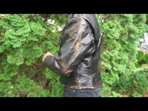 Motorcycle Jacket Try on-Vintage Leather jackets