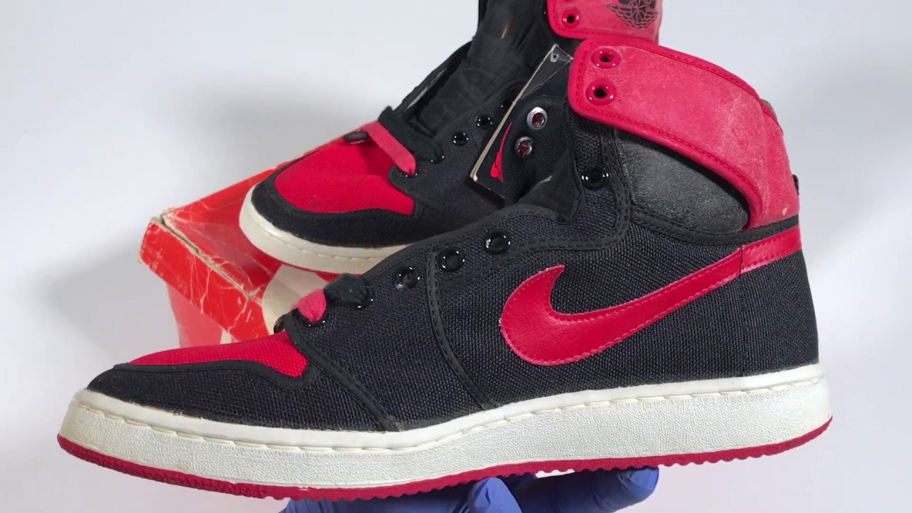 new products 0cc88 1640d Black and Red Vintage Original Air Jordan 1 AJKO from 1985