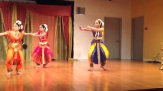 Anisha performing Dolayam Chala in Sai Baba Temple (Milpitas) on 8/01/15