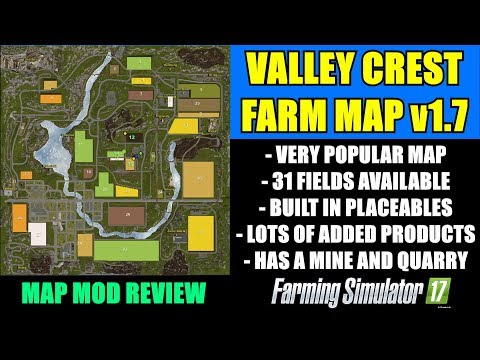 "FS17 - Valley Crest Farm v1.7 Map ""Map Mod Review"""