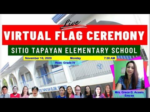 SITIO TAPAYAN ES VIRTUAL FLAG CEREMONY- NOVEMBER 16, 2020