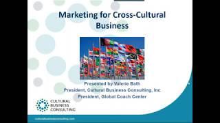 SIETAR USA Webinar Marketing for Cross Cultural Business Val Bath 10 10 18