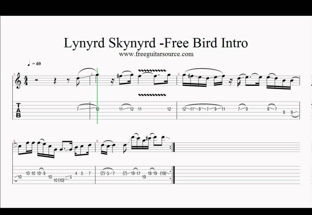 Lynyrd Skynyrd Free Bird Intro Guitar Lesson - YouTube