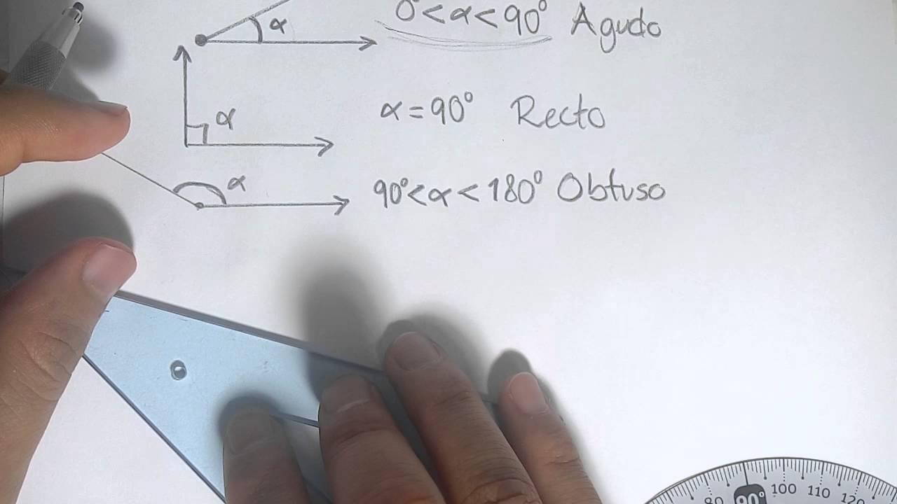 Tipos De Angulos Agudo Recto Obtuso Llano Concavo Completo Youtube