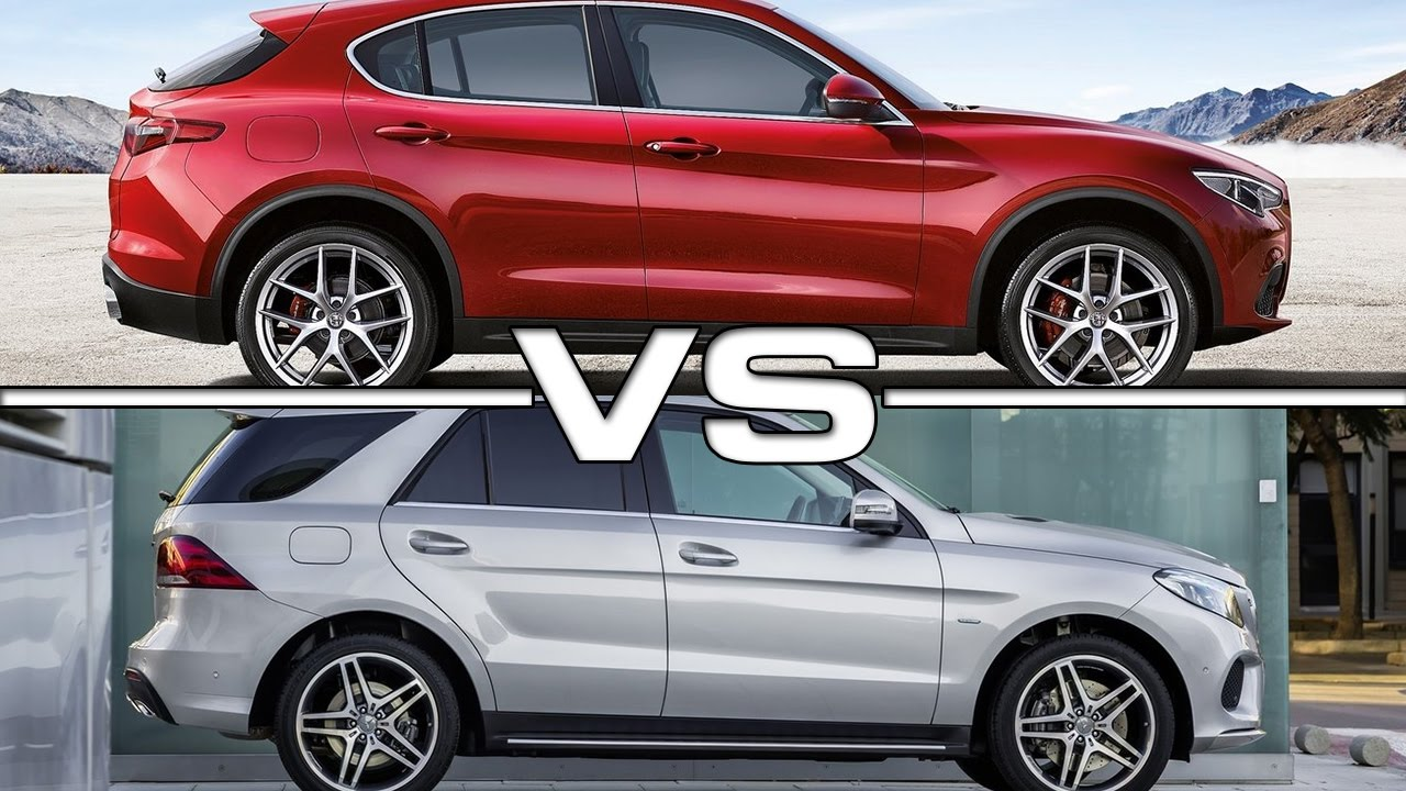 2018 alfa romeo stelvio vs 2016 mercedes gle youtube for Alfa romeo vs mercedes benz
