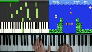 Underwater Theme - Super Mario Bros / Synthesia Easy Piano Cover