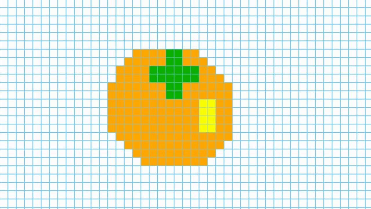 что картинки по клеточкам персика пример североамериканского
