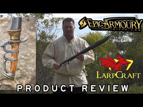 Epic Armoury Trench Knife Hybrid Larp Sword Extended Review   One-Handed Sword 34