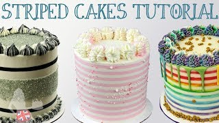 Step by step tutorial for cake stripes: 4 secrets for perfect strip...