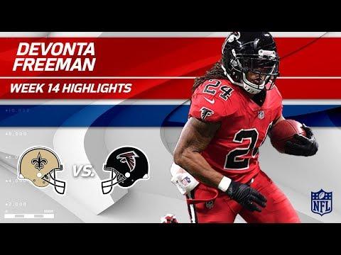 Devonta Freeman's Big Game vs. New Orleans   Saints vs. Falcons   Wk 14 Player Highlights