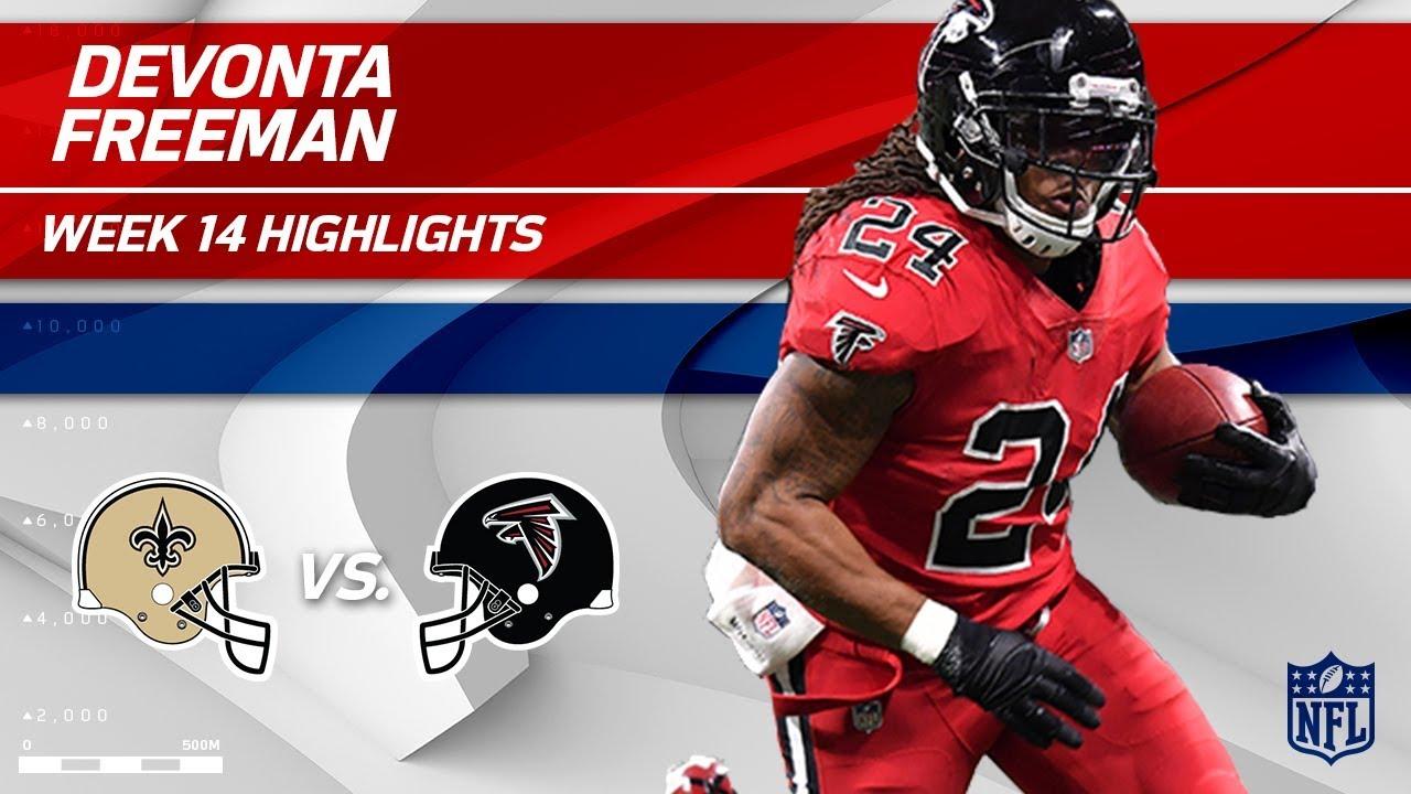 f55271d0 Devonta Freeman's Big Game vs. New Orleans | Saints vs. Falcons | Wk 14  Player Highlights