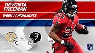 Devonta Freeman's Big Game vs. New Orleans | Saints vs. Falcons | Wk 14 Player Highlights