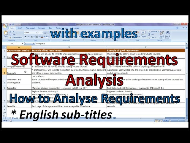 Software Requirements Analysis - YouTube