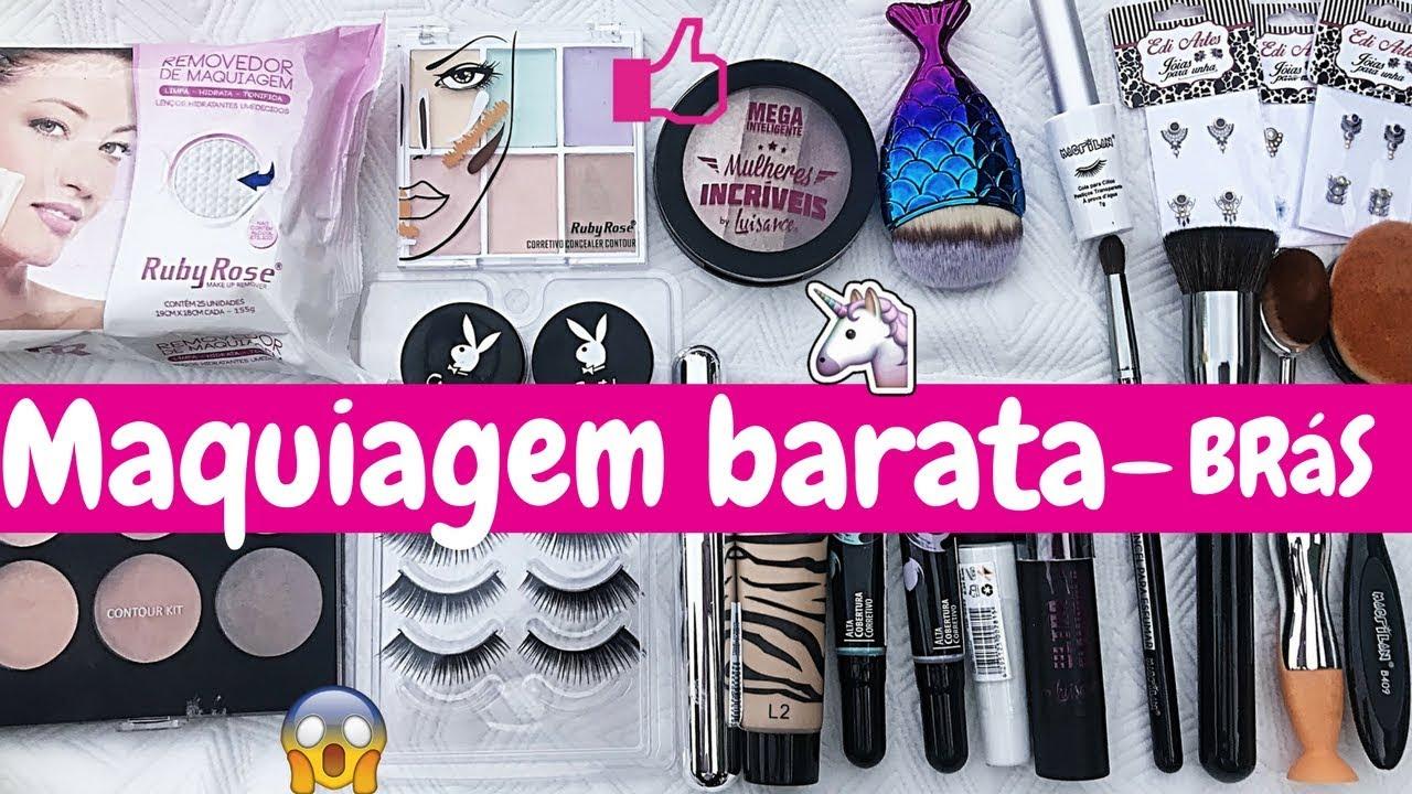 12a736b48 Comprinhas de maquiagem barata - Brás SP - YouTube