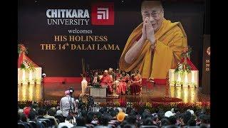 His Holiness the 14th Dalai Lama visits Chitkara University