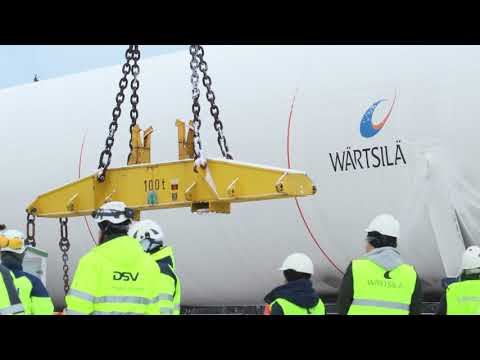 Transportation and installation of LNG tanks: Raahe LNG terminal in Finland