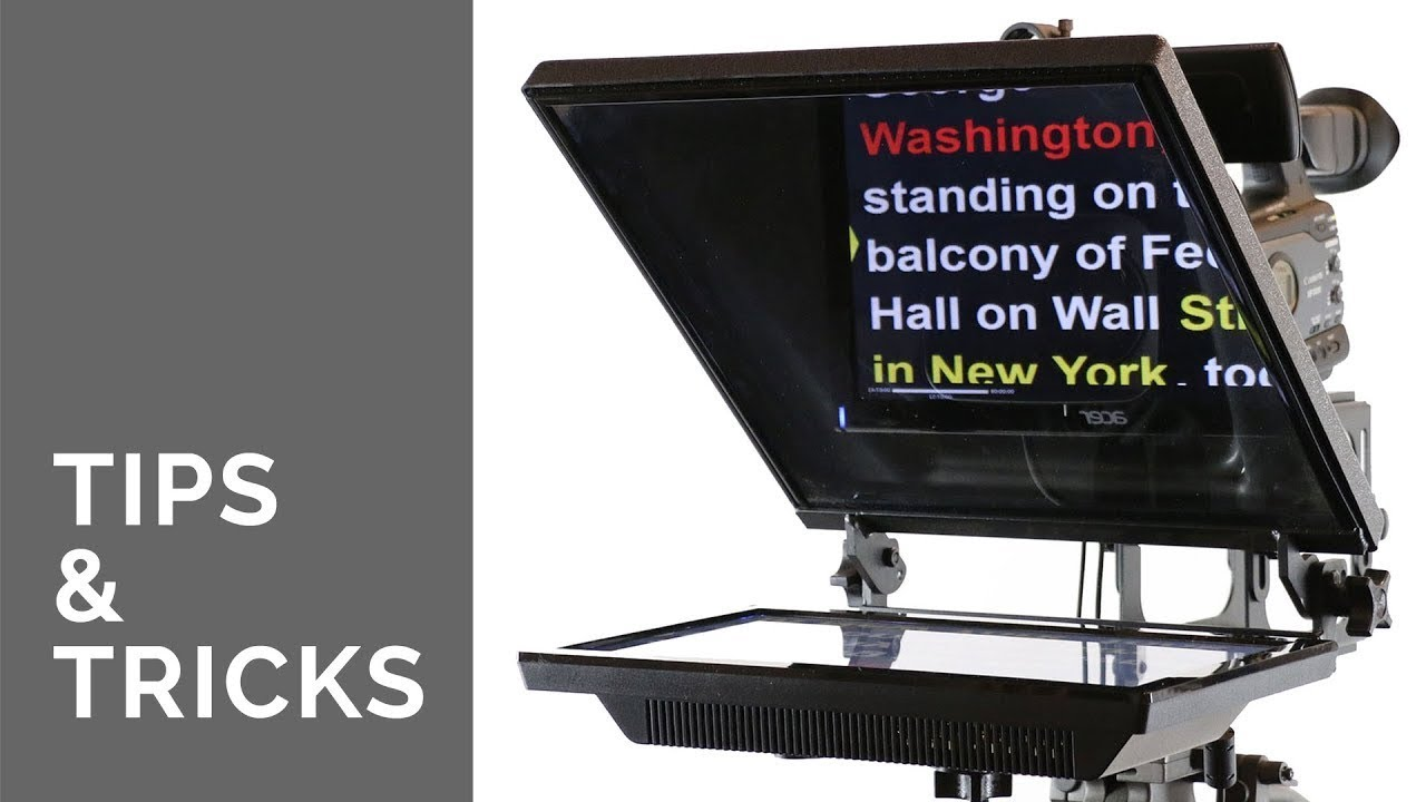 BASICS OF TELEPROMPTERS (Autocues) with Tips and Tricks