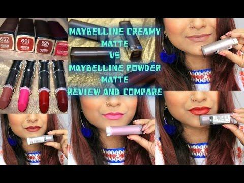 maybelline-creamy-matte-lipstick-|-maybelline-powder-matte-lipstick|review-&-comparison
